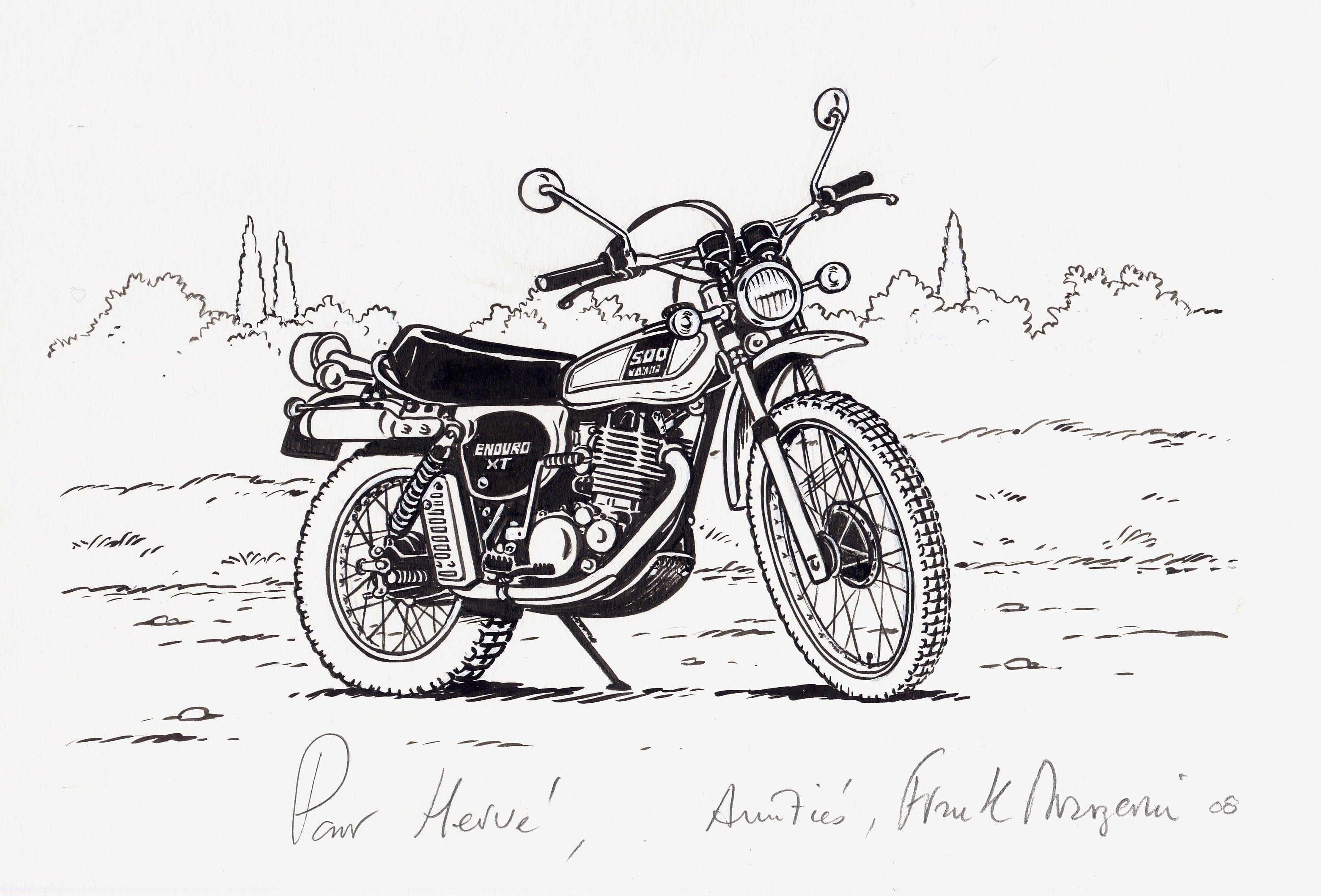 La moto sur les dents page 11 - Dessin moto sportive ...