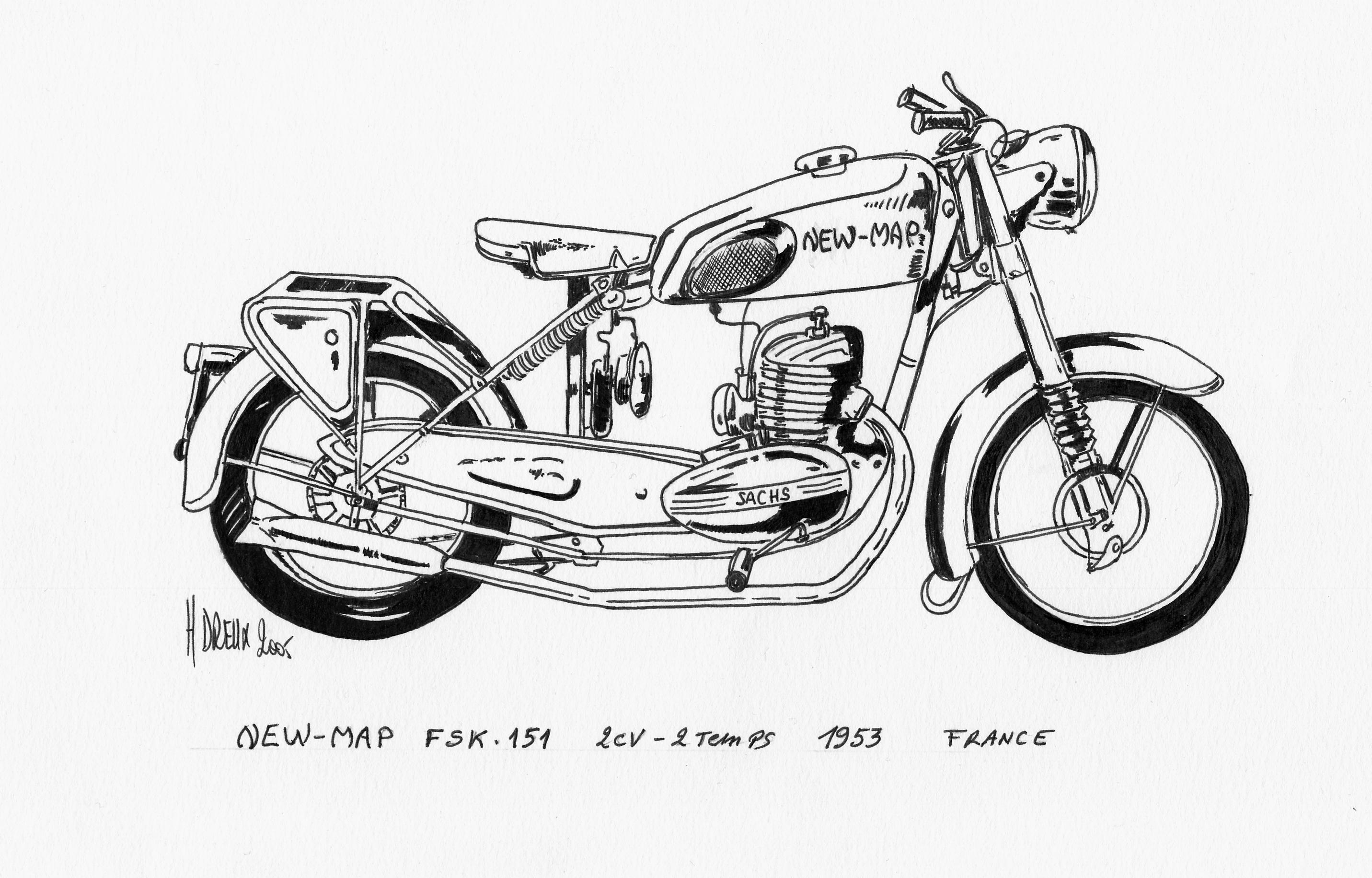 Mes dessins - Dessin de moto ...