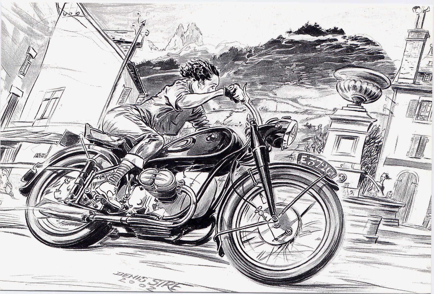 La moto sur les dents page 12 - Dessin de motard ...